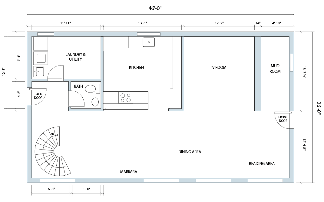 Floor plans vt passive house for Passive house floor plans
