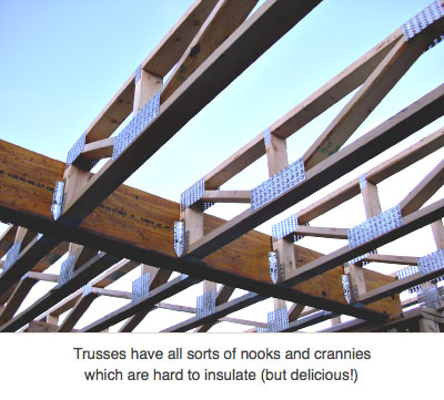 Open-web roof trusses